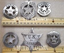 THE MARSHAL COLLECTION 6 DIFFERENT BADGES (OLD WEST LAWMAN BADGES) FREE SHIPPING