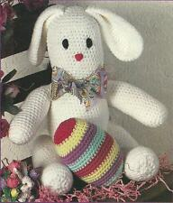 *Bunny With Striped Easter Egg crochet PATTERN INSTRUCTIONS