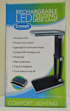 BLACK Triumph Rechargeable Folding Desk Lamp Table, Craft, Sewing, Hobby LED USB