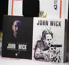 JOHN WICK BLU-RAY FULL SLIP STEELBOOK! ANGEL+DEVIL EDITION+ COIN+NOTEPAD! FAC#15