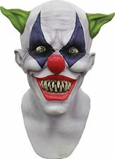 Halloween LifeSize Costume CREEPY GIGGLES CLOWN LATEX DELUXE MASK Haunted House