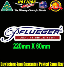PFLUEGER Fishing Boat REEL ROD Decal Sticker Suit Fridge Dingy Tackle Box Bar