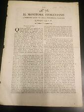 IL MONITORE FIORENTINO 1799 N°76 SI PARLA DI ALBENGA - ONEGLIA - DIANO ...19-197