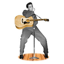 ELVIS PRESLEY Acoustic Guitar Lifesize CARDBOARD CUTOUT Standup Standee Poster