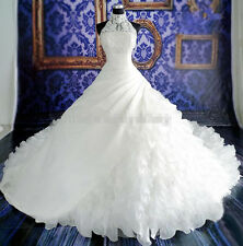 New White/Ivory Bridal Gown Wedding Dress Custom Size 4-6-8-10-12-14-16-18-20++T