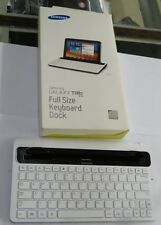Samsung Galaxy Tab 8.9 Full Size Keyboard Dock White