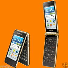 "Samsung Galaxy Golden GT-I9235 Gold 8MP Dual 3.7"" 4G LTE Android Flip Smartphone"
