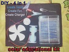 SOLAR Educational KIT Hobby Panel DIY LED Motor Fan Science School Project Toy