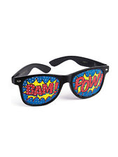 "Pop Art ""Pow"" Screened Sunglasses Comic Book Fancy Dress Prop Accessory New"