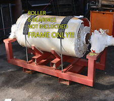 Adjustable lifting and transport frame for conveyor rollers