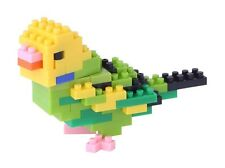 Kawada Nanoblock Mini BUDGERIGAR GREEN OPALINE - japan building toy NBC_167