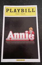 Programme officiel de la comédie musicale ANNIE jouée à Broadway