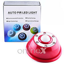 Sensor Movimiento PIR 6 LED Light Motion Activado en 3 Canales Color: Rojo a950