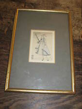 ART DECO MARIANI PERIOD FRAMED PRINT OR DRAWING OF A  ELEGANT LADY