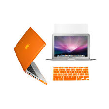 "3in1 ORANGE Crystal Case for Macbook Pro 13"" A1425 Retina display+ Key Cover+LCD"