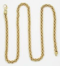 14k Yellow Gold Double Cable Chain Link Necklace