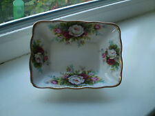 Royal Albert Celebration Sweet Dish Pink Roses China 1st  Quality