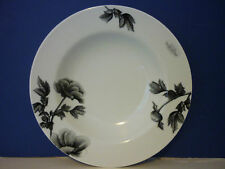 Royal Worcester Black Peony Rim Soup Plate Bowl NEW several available NEW