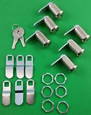 RV Trailer Motorhome Storage Compartment Door Cam Lock Set Of 6 Six 18-3319-6
