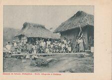 B81244 missions de scheut philippines  villageoise a patikian  front/back image