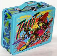 TEENAGE MUTANT NINJA TURTLES TMNT Tin Tote WORK HOBBY TOOL SNACK LUNCH BOX B New