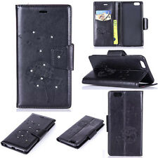 Bling Dandelion Patterned Flip Wallet Leather Case Cover With Stand For Phones