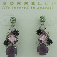 Sorrelli African Violet Earrings  ECF6ASAFV antique silver tone