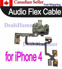 Headphone Audio Jack Power Volume Switch Ribbon Flex Cable for iPhone 4 4G WHT