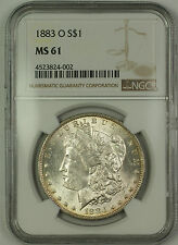 1883-O Morgan Silver Dollar $1 NGC MS-61 Lightly Toned (Better Coin) (15)