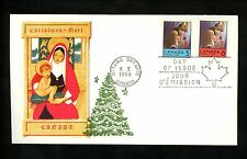 Postal History Canada Scott #502-503 Overseas Mailer FDC Christmas Noel 1969 ON