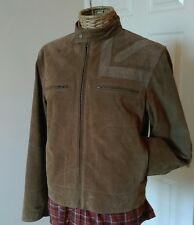 Lambretta Carnaby St. Suede Leather Jacket size S Mod Cafe Racer Union Jack