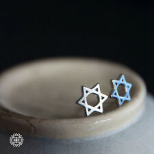HEXAGRAM STUD EARRINGS - Fashion Women 925 Sterling Silver Star of David Jewelry