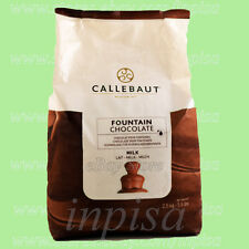 CALLEBAUT MILK CHOCOLATE 5.5# FOR FOUNTAIN FINEST BELGIAN CHOCOLATE