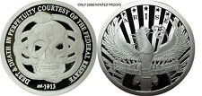 1 OZ SILVER COIN PROOF *FEDERAL RESERVE DEBT AND DEATH-ARISE #RIM ORIGINAL SBSS