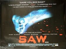 SAW ORIGINAL 2004  QUAD POSTER * SIGNED BY SHAWNEE SMITH * 30X40 HORROR