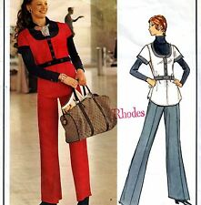 Vogue paris original vintage 70s emanuel ungaro tunique & pantalon sewing pattern 6