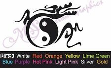 ** YING YANG DRAGON ** Car Decal, Vinyl, Drift Sticker, JDM, EURO, DUB