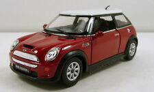 "Kinsmart Mini Cooper S Sport hardtop 1:28 scale 5"" diecast model car Red K68"