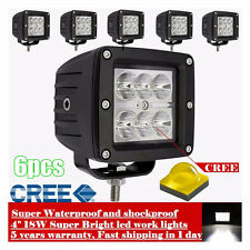 6X 18W 3inch LED Work Light Offroad Jeep SUV Cube PODs Truck SUV ATV UTE 4WD 4X4