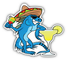Funny Mexican Iguana Car Bumper Sticker Decal 5'' x 5''