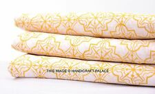 2. 5 Yards Cotton Voile Hand Block Print Fabric Natural Dyes Sanganer Indian