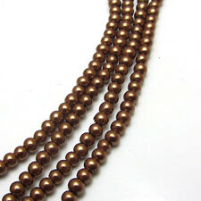 New 3MM 150pcs Charm Round  Beads Glass Spacer Pearls Coffee Color