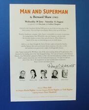 THEATRE FLYER MAN AND SUPERMAN SIGNED BY ANNA CARTERET [ JULIET BRAVO ]
