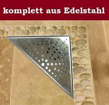 Duschrinne Dreieckig Bodenablauf Duschablauf bodengleich dreieck eckig- 20x20cm