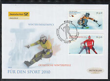 A 26 ) Germany 2010 beautiful FDC  - Olympic and Paralympic Winter Games