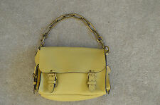 Mulberry Brooke Lemon Yellow Darwin Leather Handbag Shoulder Magnetic Bag Womens