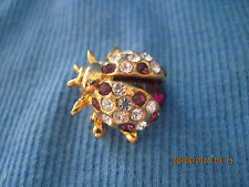 Vintage GORGEOUS Gold & Crystal Figural Bee Lapel/Scatter Pin....6886