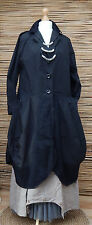 LAGENLOOK*D'CELLI*AMAZING STUNNING ECCENTRIC BALLOON COAT*BLACK*BUST UP TO 44""