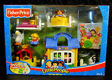 Fisher Price Little People DVD Pet Shop Pals Play Set Well Cat Dog Rabbit Rare
