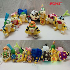 "8Pcs/Set Super Mario Bros. Cute Bowser Soft Plush Doll Stuffed Toy Hot 5""-8"""